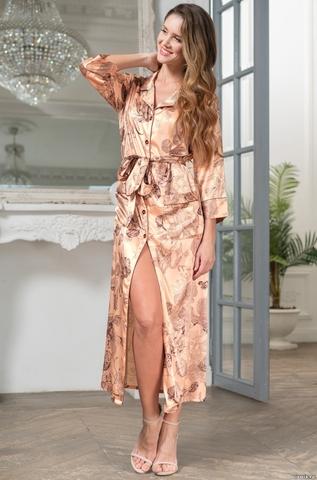 Женский халат на пуговицах  Mia-Amore  LETUAL Летуаль 3439 роза