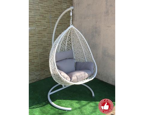 Подвесное кресло Сакала белое