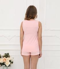 ФЭСТ, Hunny Mammy. Пижама для беременных и кормящих с горизонтальным секретом, розовый/белый вид 2