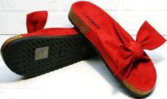 Мягкие шлепки на низком ходу женские Comer SAR-15 Red.