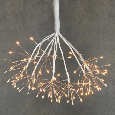 Подвесной одуванчик с мерцающими лампами теплого света, для наружного и внутреннего использования