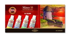 Краски масляные художественные MANES в тюбиках 16мл, 10 цветов