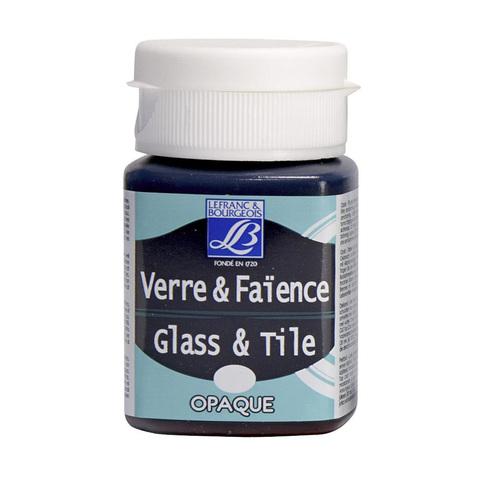 Краска по стеклу и керамике Lefranc&Bourgeois Glass&Tile 50 мл Непрозрачная 252, серо-голубой