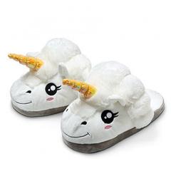 Тапочки Единорог белые