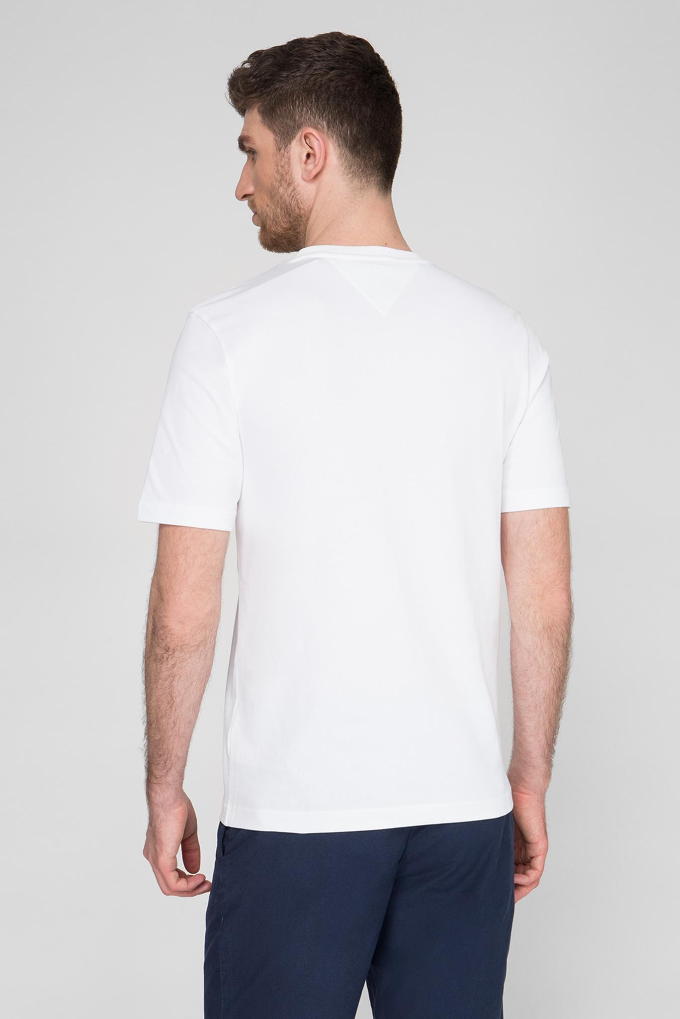Мужская белая футболка CIRCULAR COMPASS RELAXED FIT Tommy Hilfiger