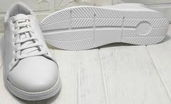 Кроссовки под джинсы кеды с белой подошвой женские Evromoda 141-1511 White Leather.