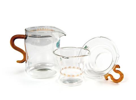 Набор из жаропрочного стекла для заваривания чая «Осень». Интернет магазин чая
