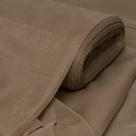 Ткань вуаль однотонная для штор - кофейная. Ш- 300 см. Арт. ERT-7