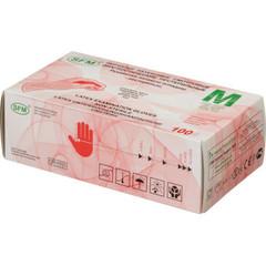 Перчатки медицинские смотровые латексные SFM текстурированные нестерильные неопудренные размер M (100 штук в упаковке)