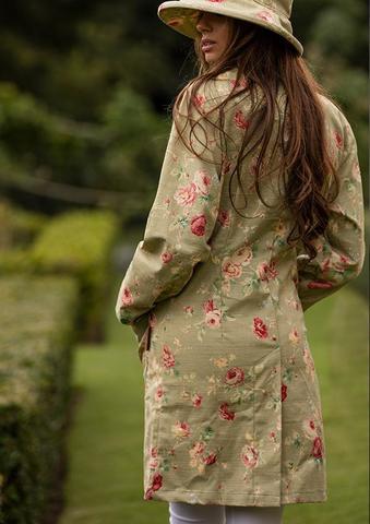 Женское пальто-пыльник из хлопка с цветочным принтом ручной работы Bradleys