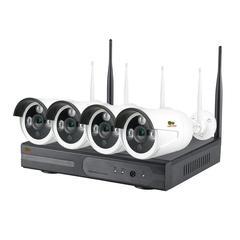 Комплект беспроводного видеонаблюдения Partizan  на 4 камеры 1Мп Outdoor Wireless Kit 1MP 4xIP v1.0 (82074)