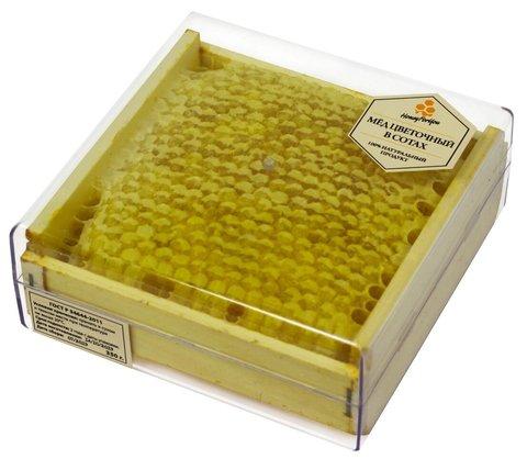 Натуральный мед в сотах HoneyForYou в футляре, 350 г