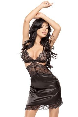 Эффектная эротическая сорочка Adelaide черная