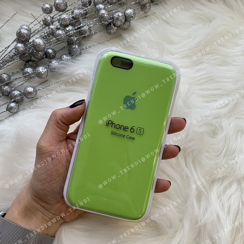 Чехол iPhone 6/6s Silicone Case /lime green/ салатовый 1:1