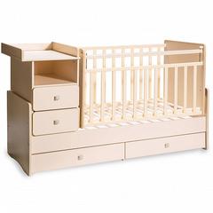 """Детская кровать-трансформер с маятником и пеленальным столом """"Martina 4"""""""