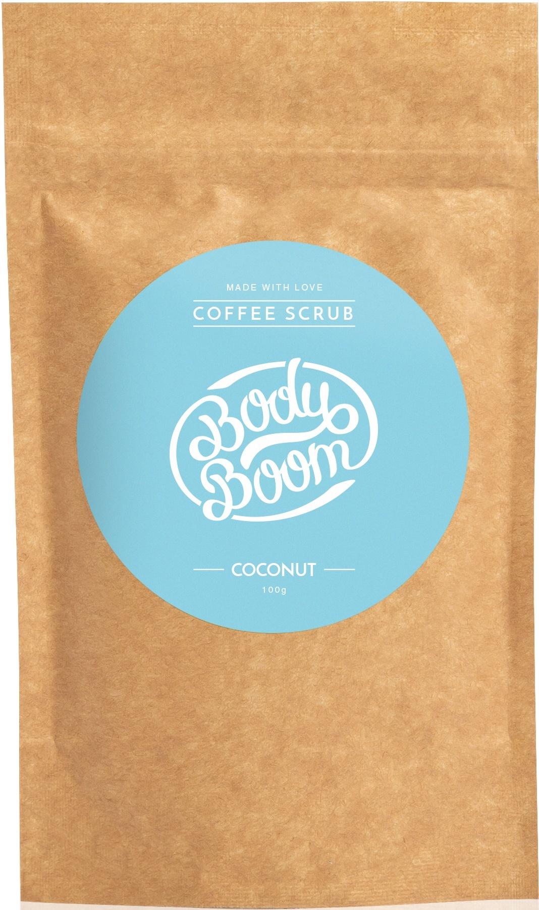BODY BOOM Кофейный скраб для тела Coconut 100г