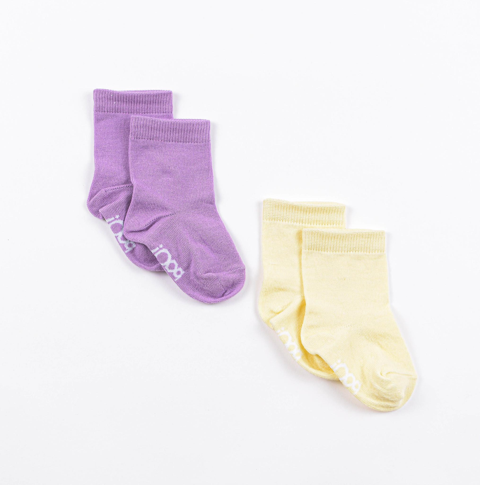 Socks set 0+, Lilac/Daffodil