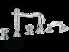Смеситель для ванны на 5 отверстий Migliore Arcadia, хром ML.ARC-8380