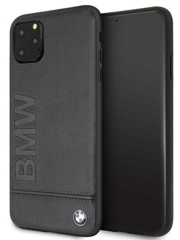 BMW / чехол для телефона iPhone 11 Pro Max | Signature Logo imprint Hard Leather Black