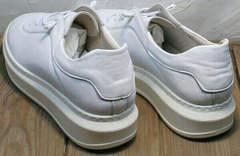 Белые сникерсы кроссовки белого цвета Rozen M-520 All White.