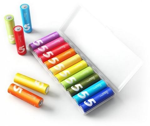 Батарейки Xiaomi AA Rainbow 5 (10 штук в боксе)