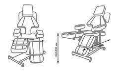 Кресло для тату салона Таурус схема