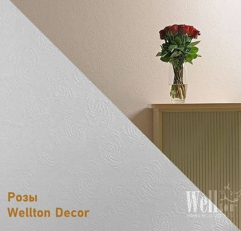 Стеклообои Wellton Decor WD810 Розы