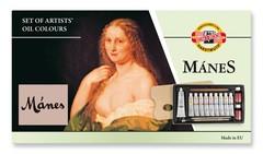 Набор красок масляных художественных MANES, 10 цветов и принадлежности