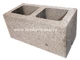 Блок керамзито-бетонный двух пустотный