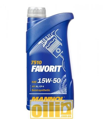 Mannol 7510 FAVORIT 15W-50 1л
