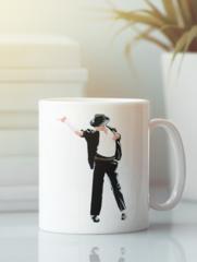 Кружка с изображением Майкла  Джексона (Michael Jackson) белая 0011