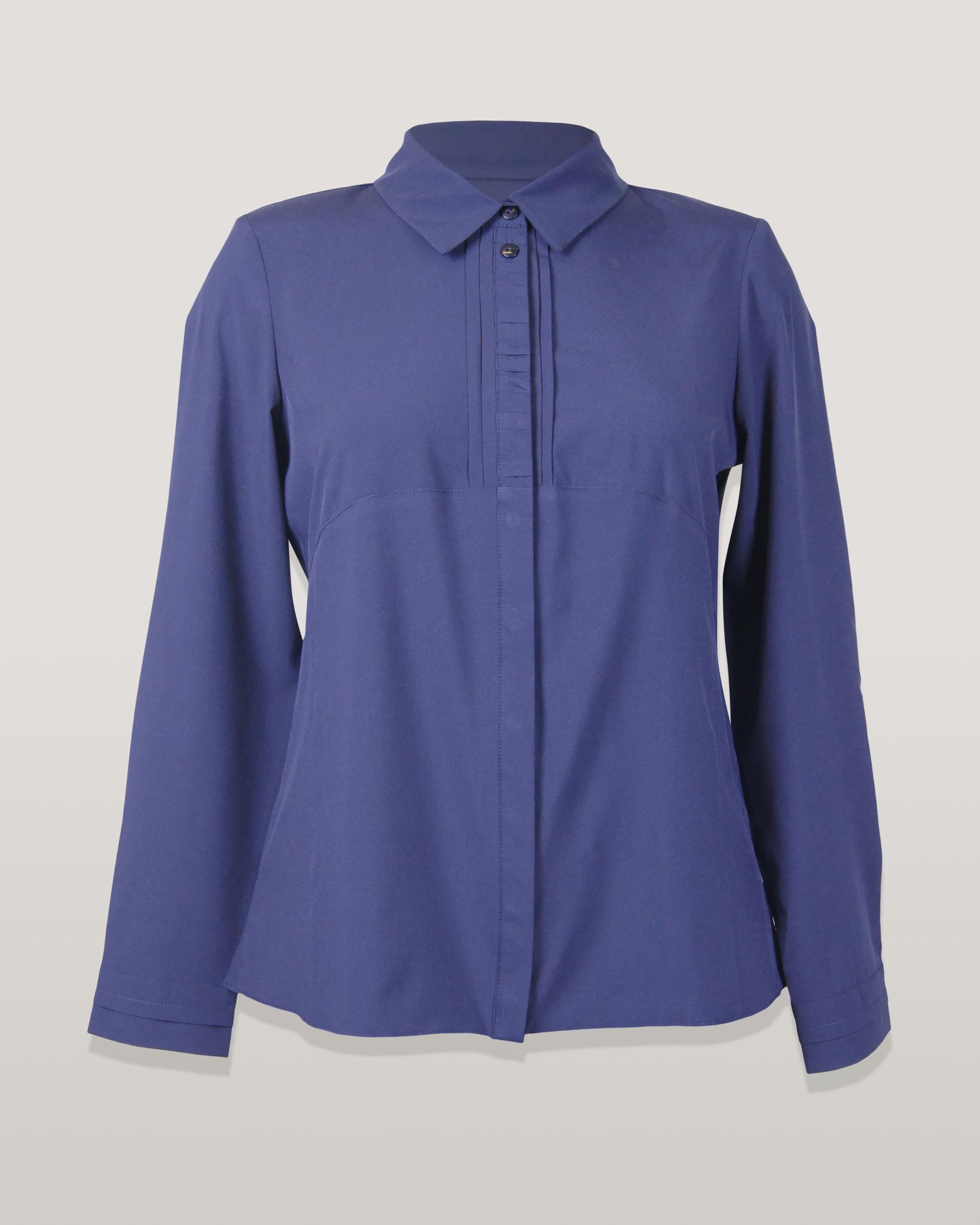 Блузка Laura Canorra 2182 рубашка поло складки однотон