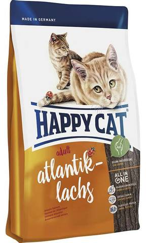10 кг. HAPPY CAT Cухой корм для взрослых кошек с атлантическим лососем Supreme Adult Atlantik Lachs