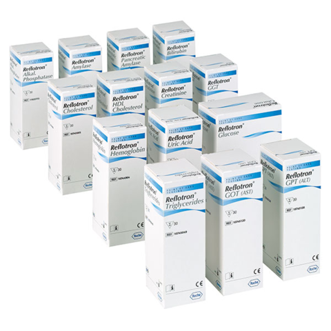 Тест-полоски Рефлотрон Билирубин (Reflotron Bilirubin) РОШ 30 шт/упак для Рефлотрон плюс. Roche Diagnostics GmbH», Германия