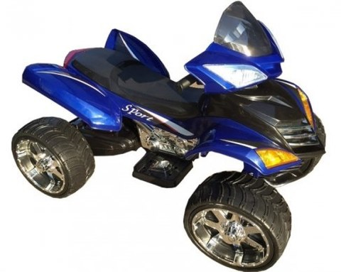 Детский электроквадроцикл Rivertoys Е005КХ синий кожа