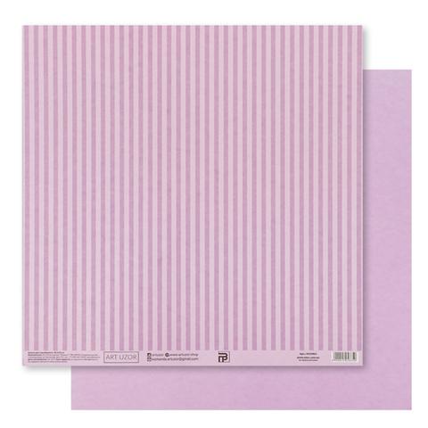Бумага для скрапбукинга «Сиреневая базовая полоска», 30.5 × 32 см, 180 гм