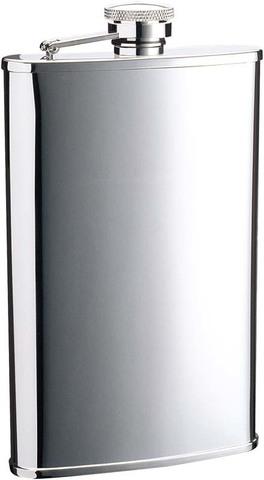 Фляга S.Quire (0,18 литра), сталь, серебристая