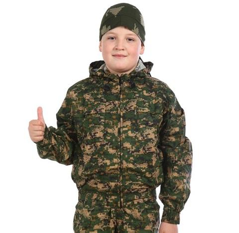 Маскхалат детский камуфляжный 097