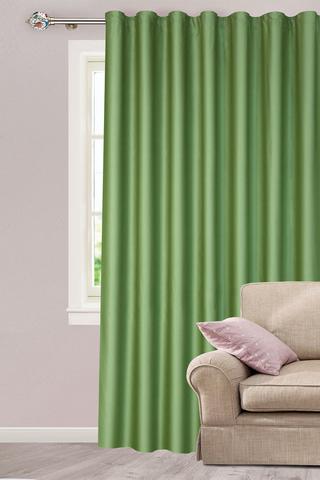 Готовая штора креп Дениз зеленый