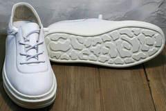 Женские кожаные белые кеды на толстой подошве Rozen M-520 All White.