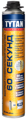 Клей-пена Tytan Professional 60 секунд универсальный 750мл