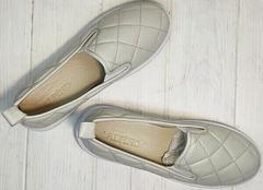 Легкие слипоны кеды из натуральной кожи Alpino 21YA-Y2859 Cream.