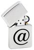 Зажигалка Zippo Internet с покрытием Brushed Chrome, латунь/сталь, серебристая, матовая, 36x12x56