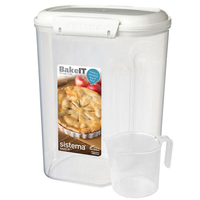 """Контейнер пищевой с мерным стаканом Sistema """"BAKE-IT"""" 3,25 л"""