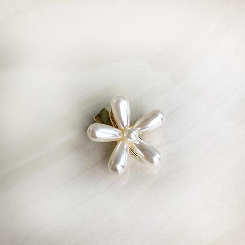 Заколка для волос мини цветок из искусственного жемчуга