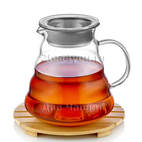 Сервировочный чайник из жаропрочного стекла 500 мл