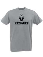 Футболка с принтом Рено (Renault) серая 002