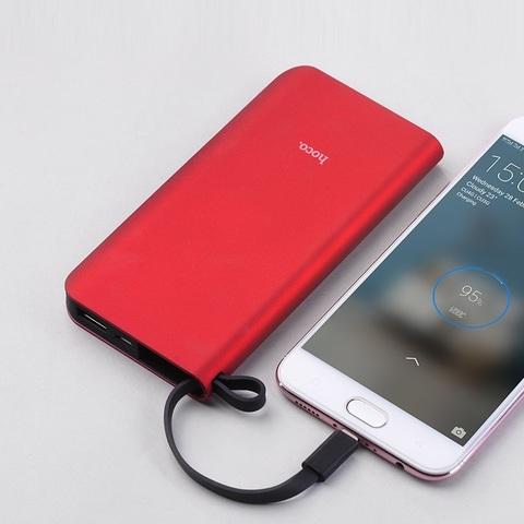 Внешний аккумулятор Hoco J25A Micro USB 10000mAh Красный