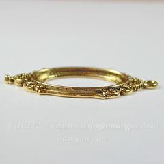 Сеттинг - основа - подвеска для камеи или кабошона 25х18 мм (цвет - античное золото)
