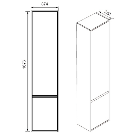 Комплект мебели Roca Laks 100 (тумба с раковиной, зеркало, шкаф-колонна)